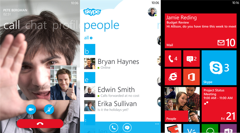 Skype Preview Windows Phone 8
